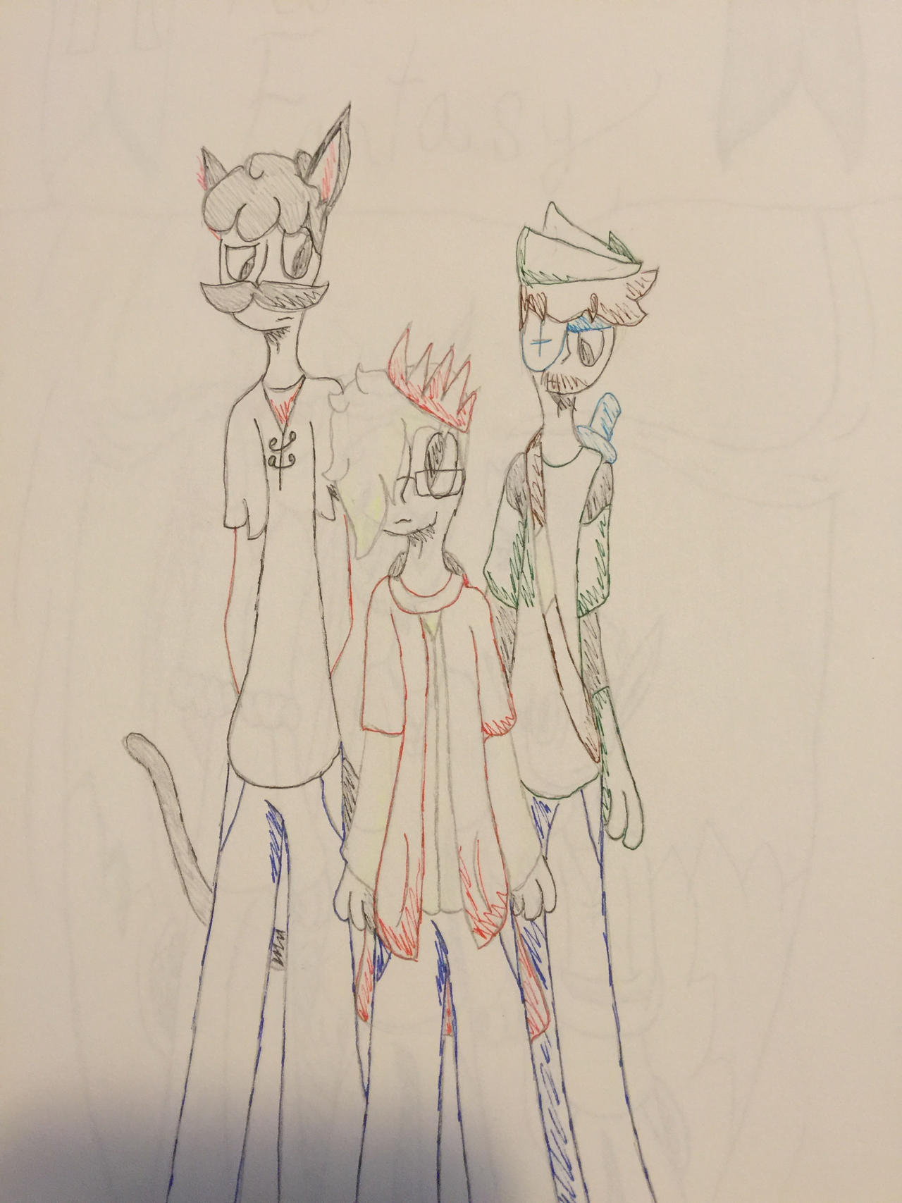 Mumbo, Grian, and Iskall by themightywolftiger on DeviantArt
