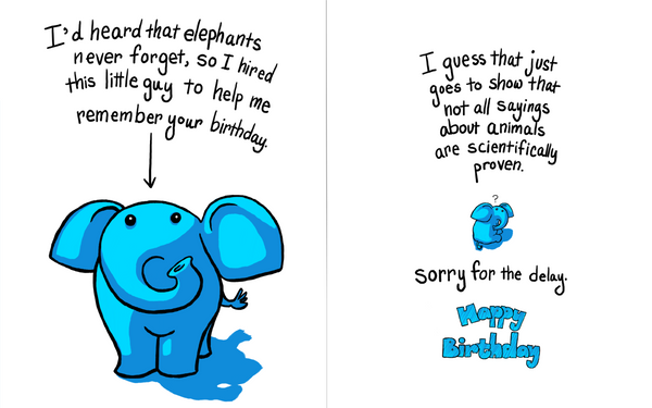 Oops Forgot Your Birthday Card By Agent Jolliday On Deviantart