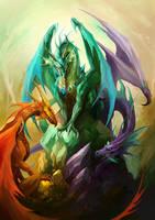 Crystal Dragons by sandara