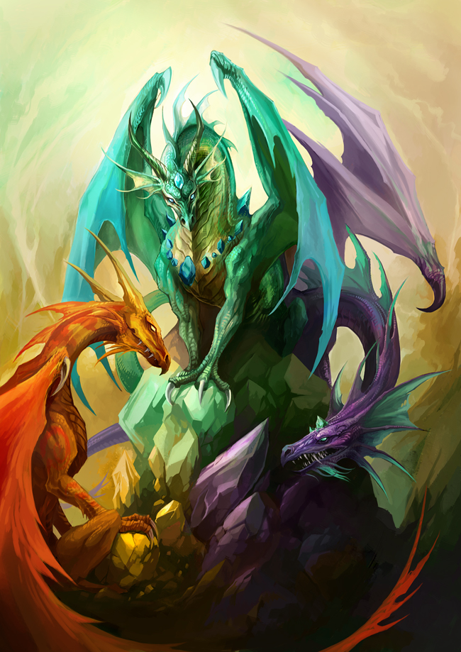 Crystal Dragons by sandara on DeviantArt