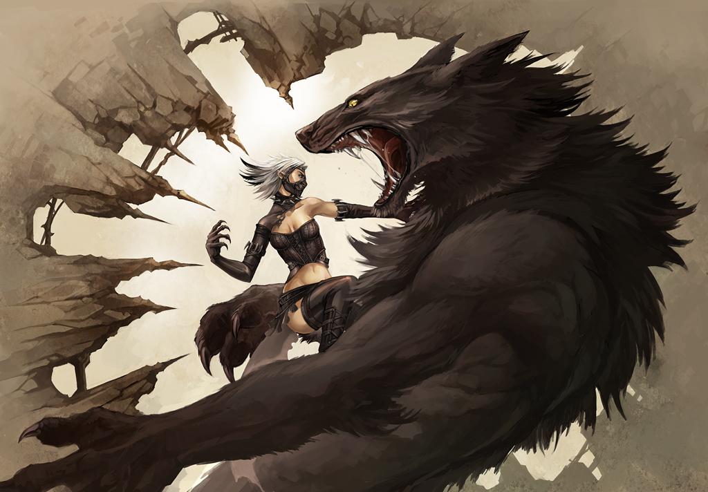 vampire vs werewolf by sandara on DeviantArt