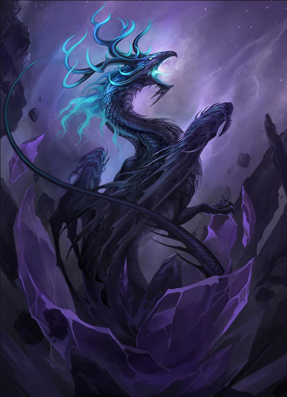 Черный дракон арт