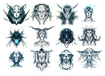 alchemy faces by sandara