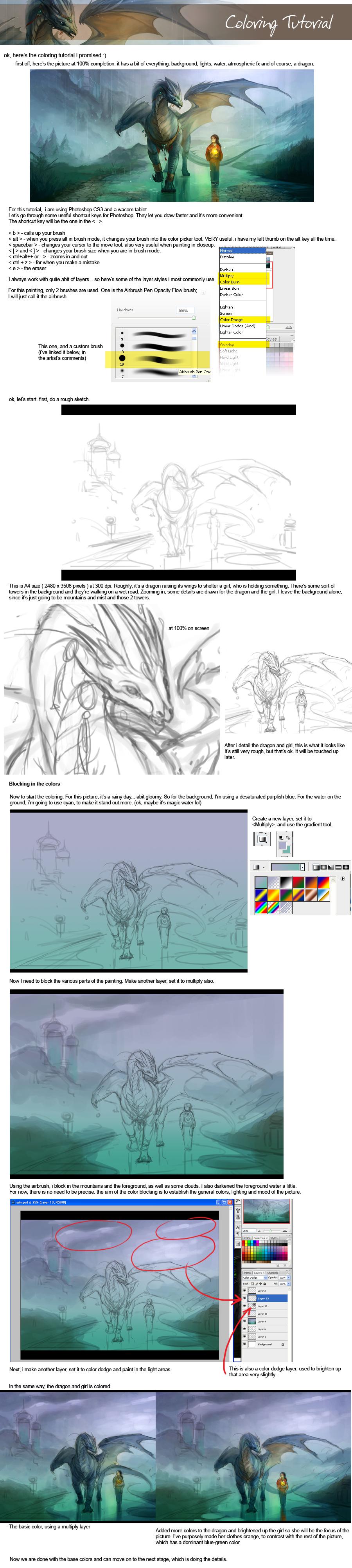 Coloring tutorial - 01 by sandara