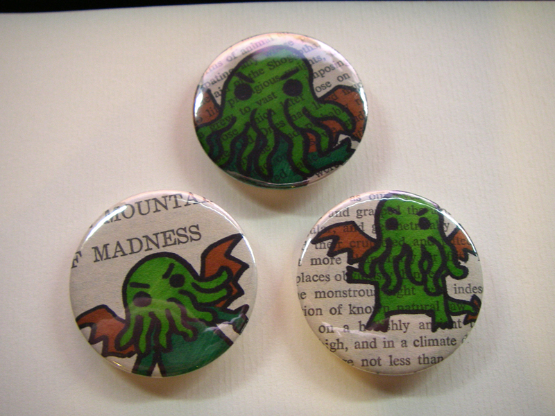 Cthulhu badges by sandara