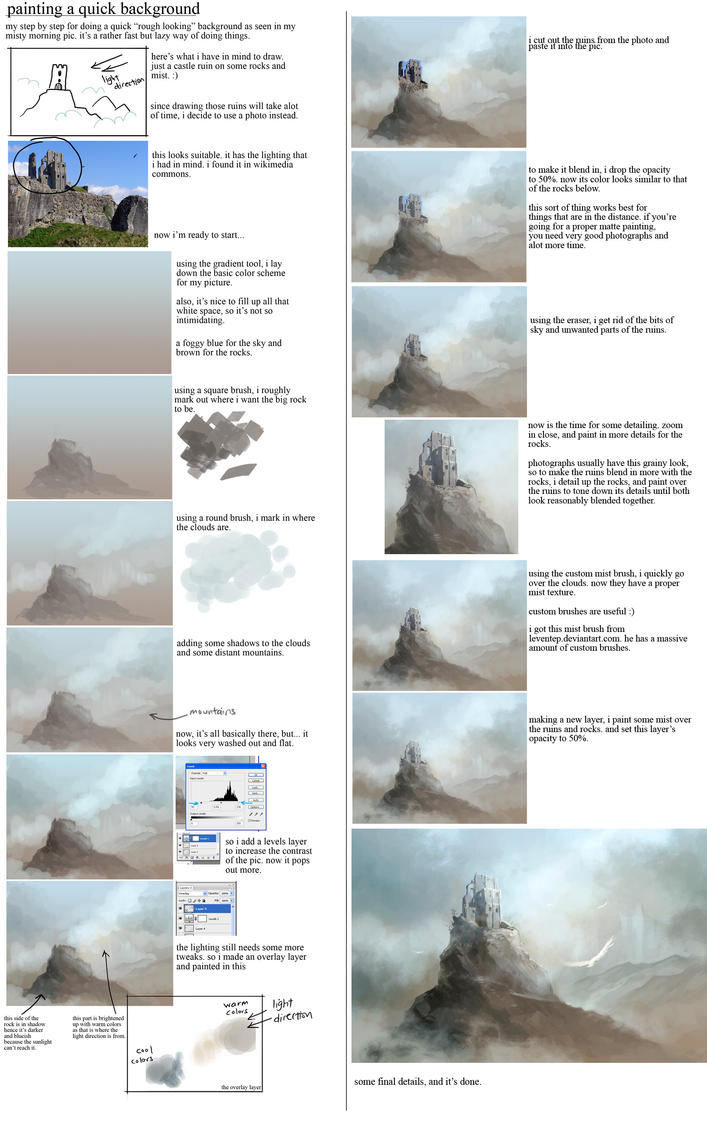 matte painting tutorial by sandara