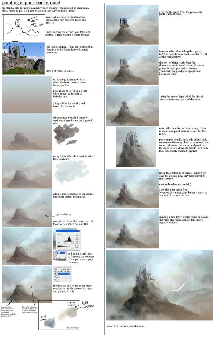 matte painting tutorial by sandara