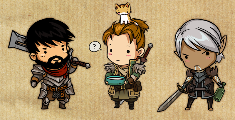 Dragon Age 2 guys by sandara