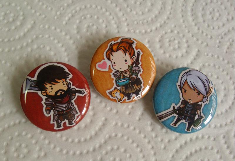 DA2 chibi badges by sandara