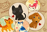 cats and dog badges