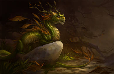 autumn dragon by sandara