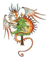 Dragon Christmas 1 by sandara