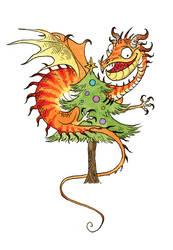 Dragon Christmas 3 by sandara