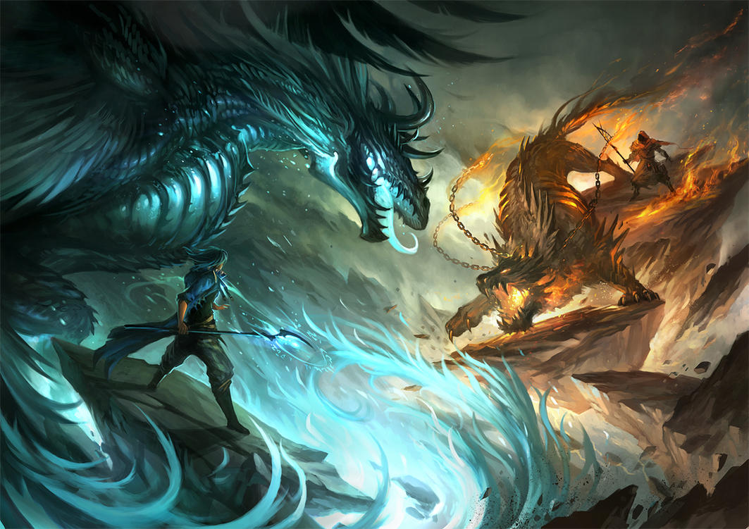 Mage battle by sandara on DeviantArt for Fantasy World Art Dragon  56mzq