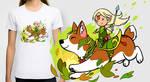 Corgi T-shirt / prints by sandara