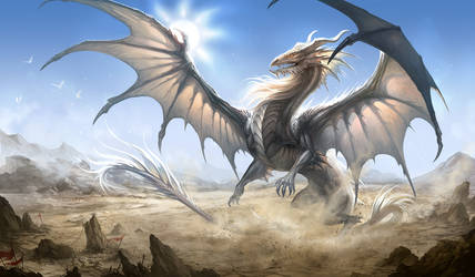 White Dragon by sandara