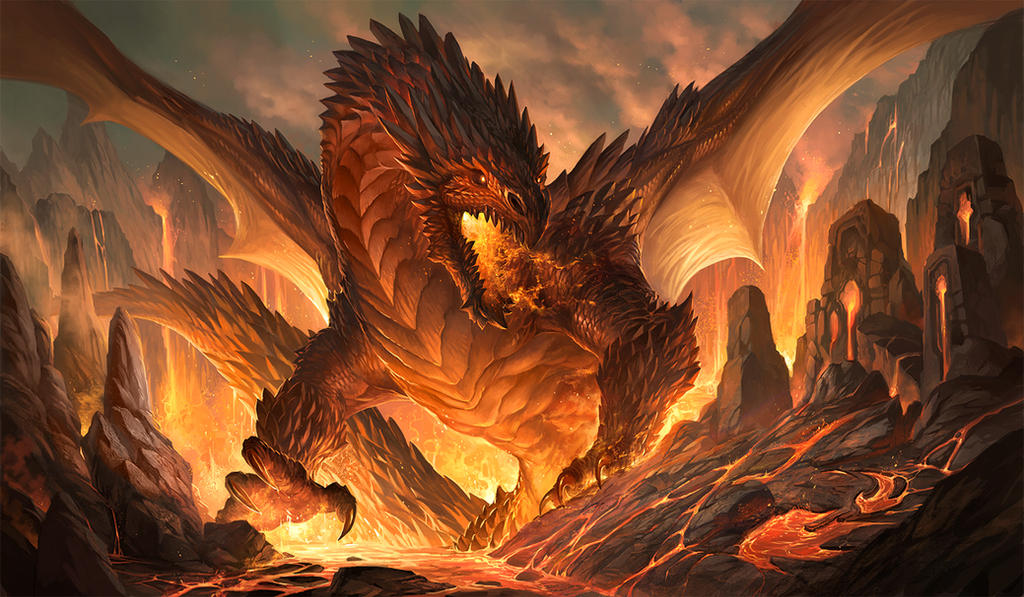 Red dragon by sandara on DeviantArt