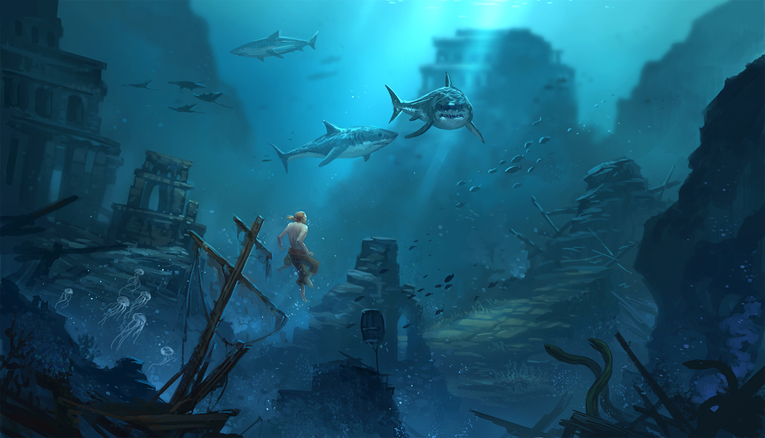 AC4 underwater fanart by sandara