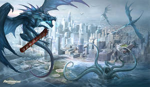 Chicago dragon playmat