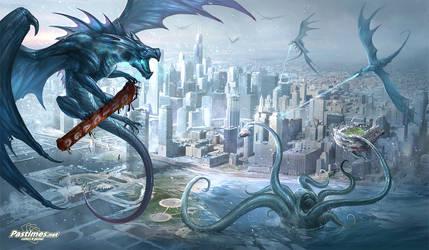 Chicago dragon playmat