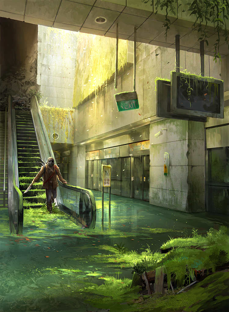 Abandoned Station - Photobash