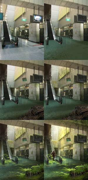 Abandoned Station - steps