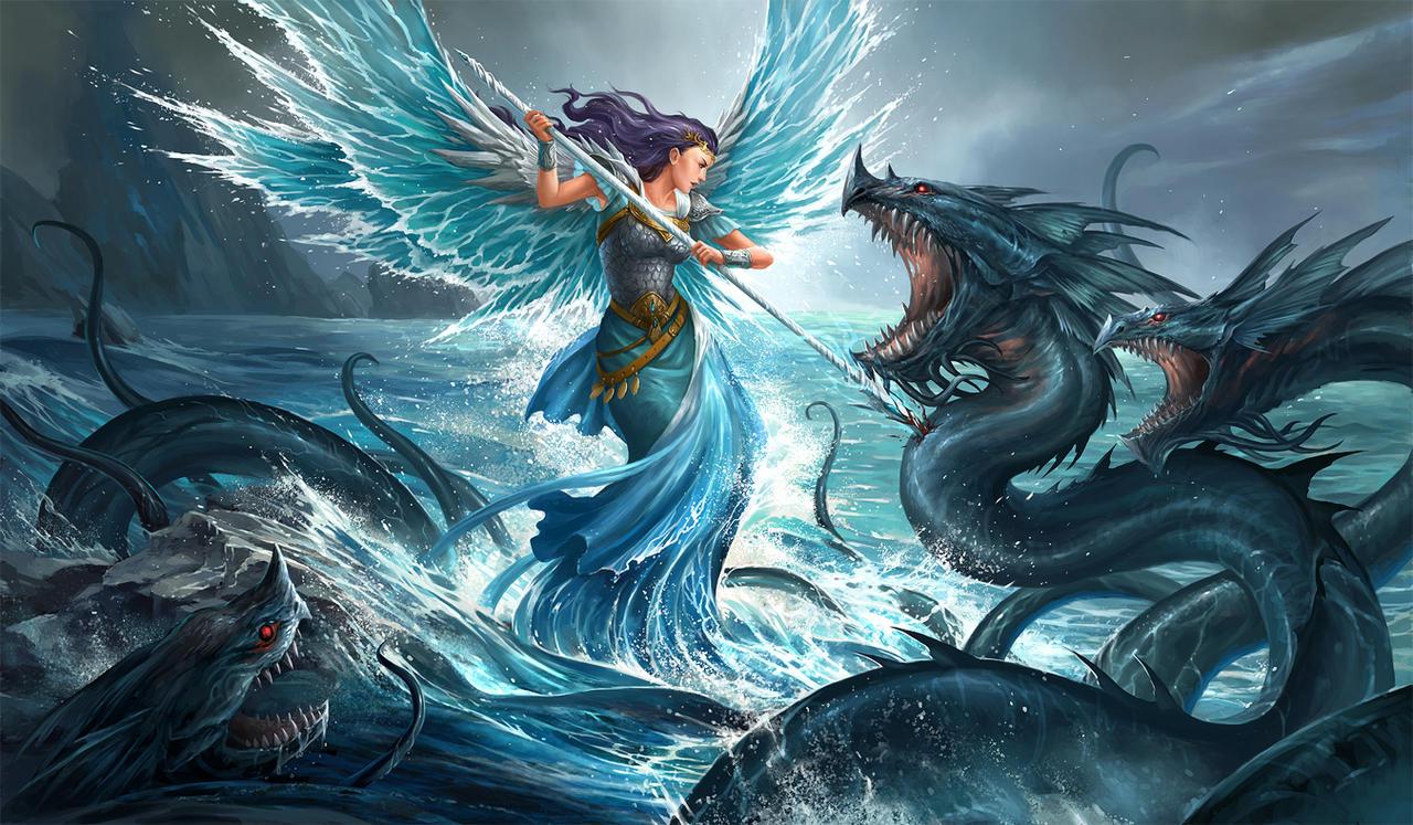 Angel Dragon: Blue Angel By Sandara On DeviantArt