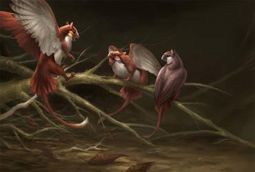 3 Griffins by sandara