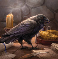 Old Bear's Raven by sandara
