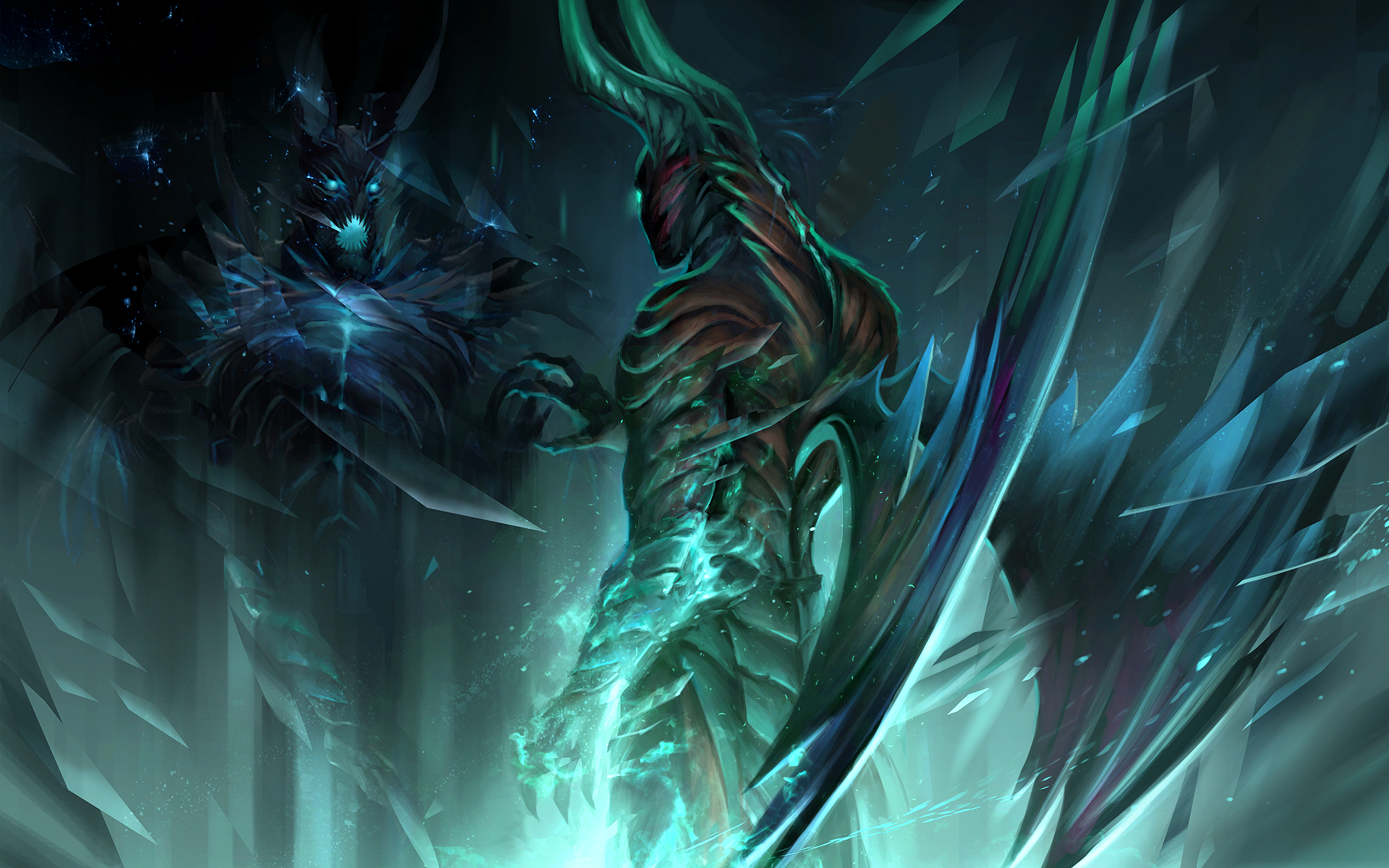 Terrorblade wallpaper by sandara on deviantart for Deviantart wallpaper