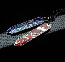 Dragon and phoenix pendant
