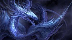 Blue Crystal Dragon