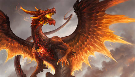 Red Crystal Dragon by sandara
