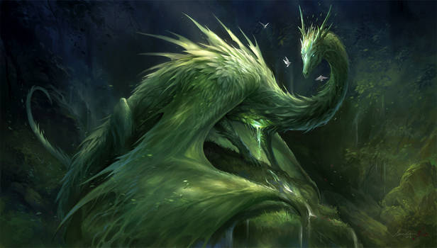 Green Crystal Dragon