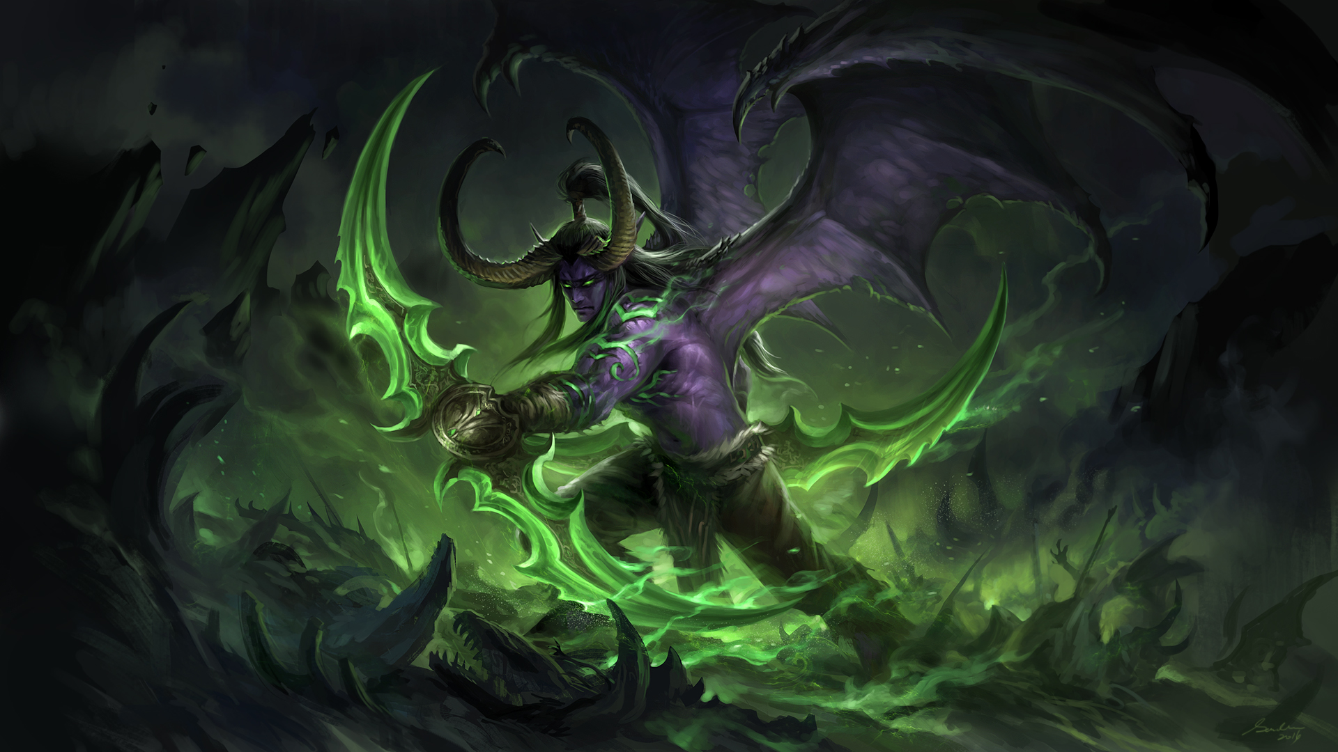 Illidan (large ver) by sandara on DeviantArt