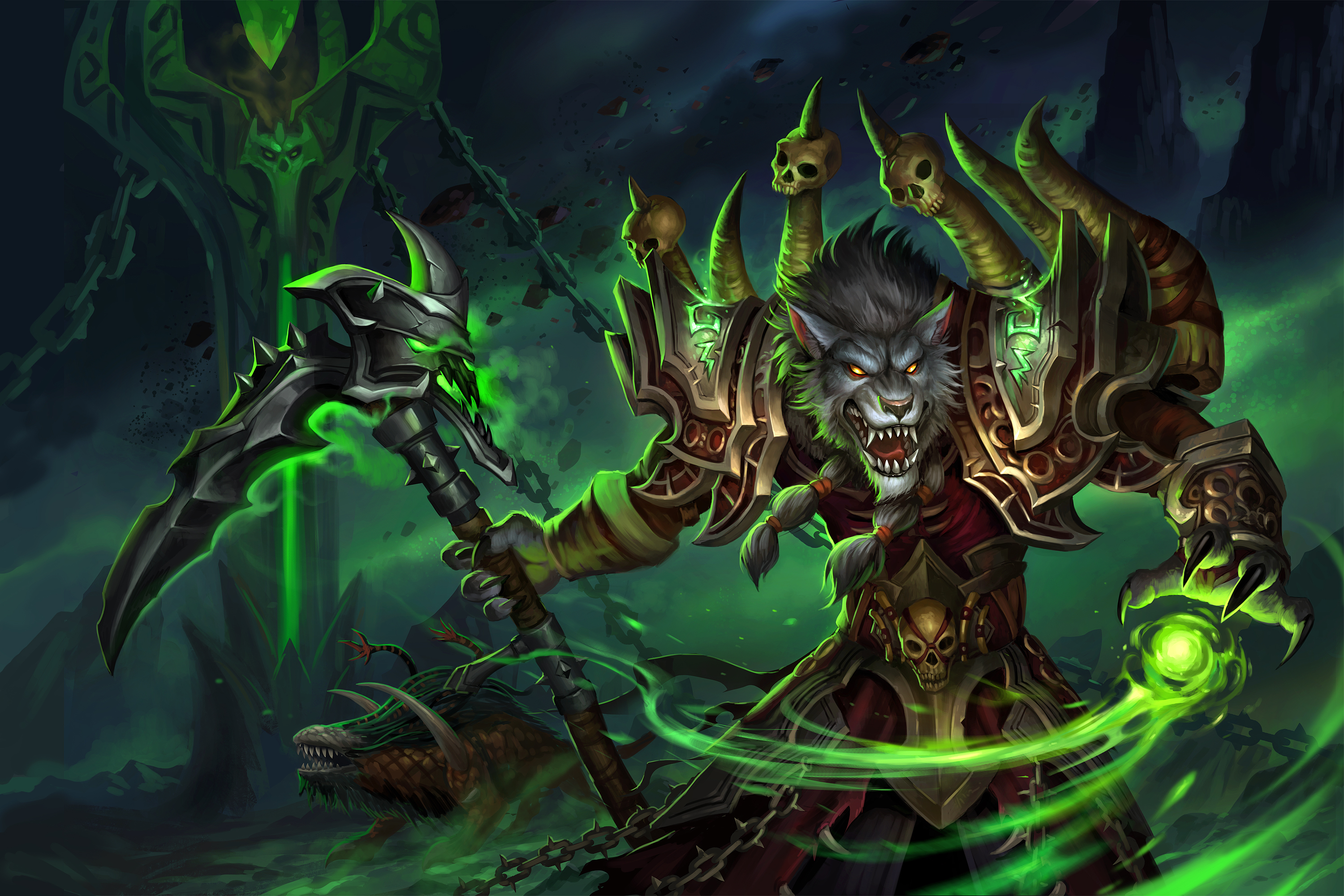 world of warcraft worgen warlock by sandara on deviantart