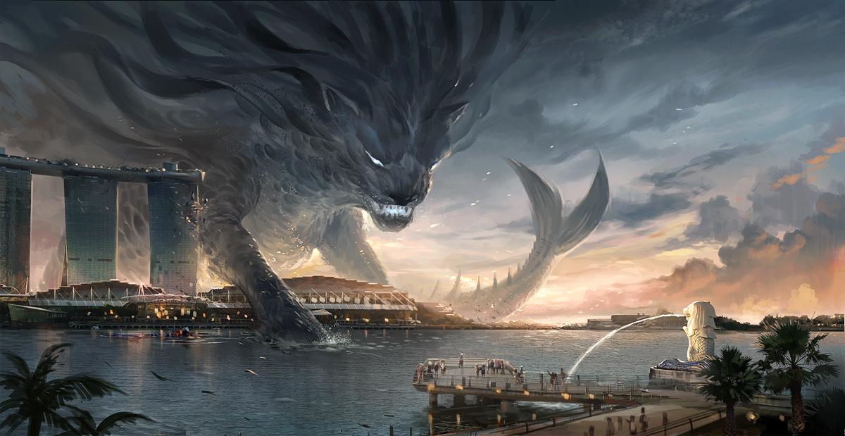 Merlion by sandara