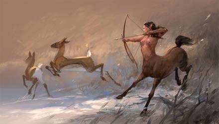 Hunting by sandara
