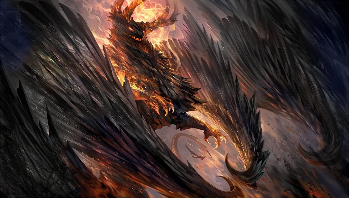 Black Crystal Dragon by sandara