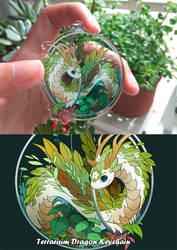 Terrarium dragon keychain by sandara