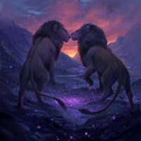 Lions by sandara