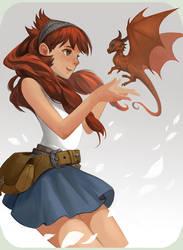 Girl doodle by sandara