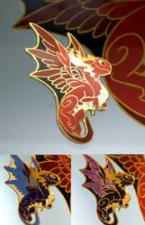 Dragon - enamel pin by sandara