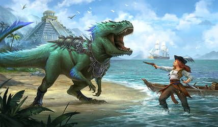 Dino and Pirate by sandara