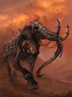 Re-animated Elephant mount