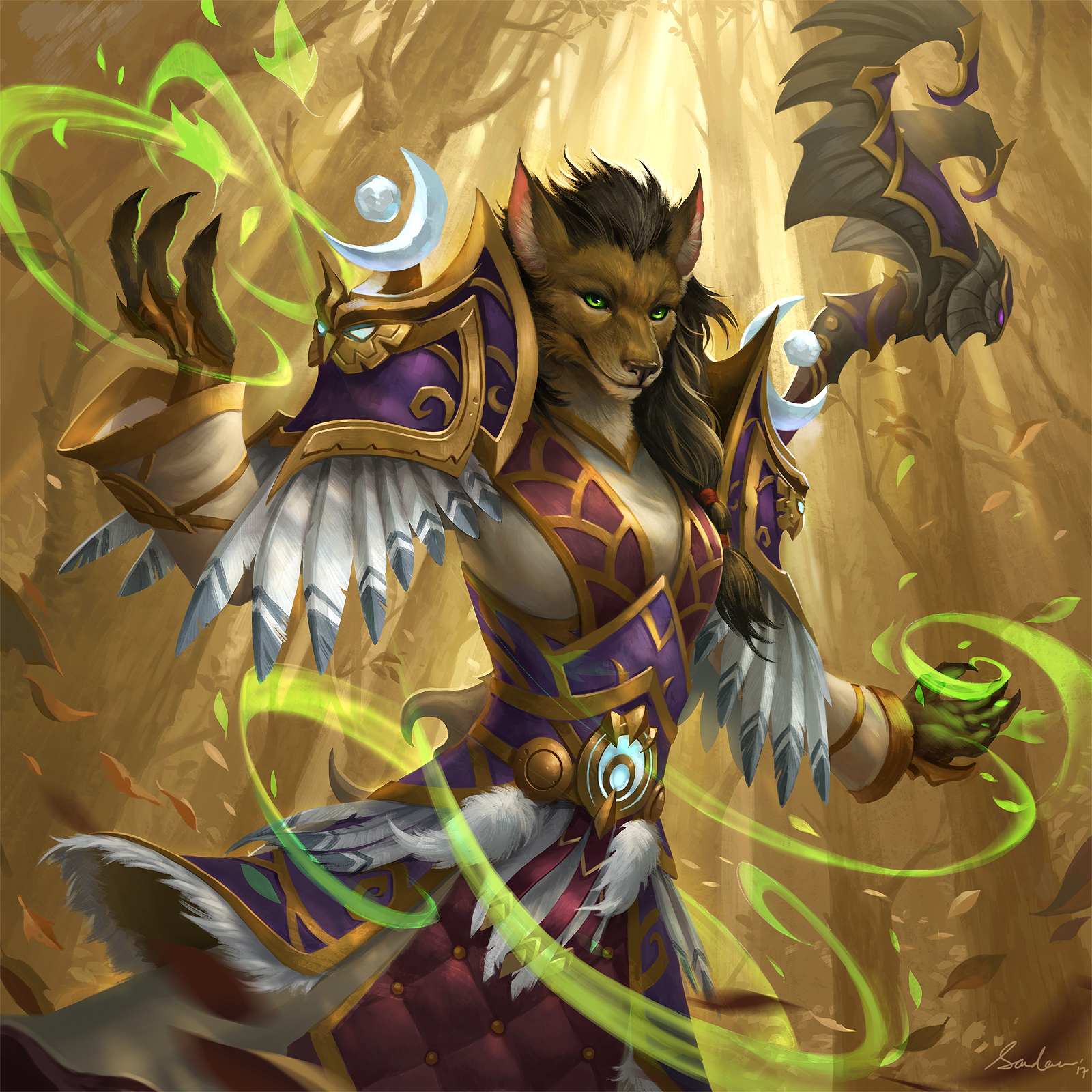 Worgen Druid by sandara on DeviantArt