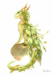 watercolor dragon 2 by sandara