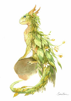 watercolor dragon 2