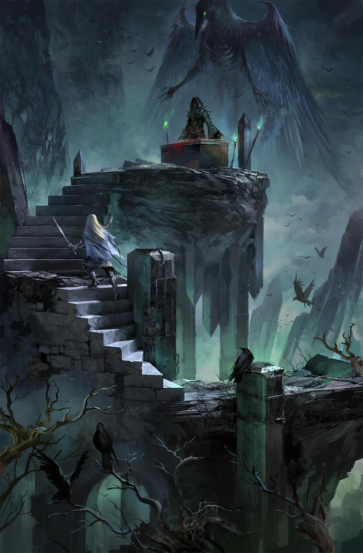 Raven Altar by sandara