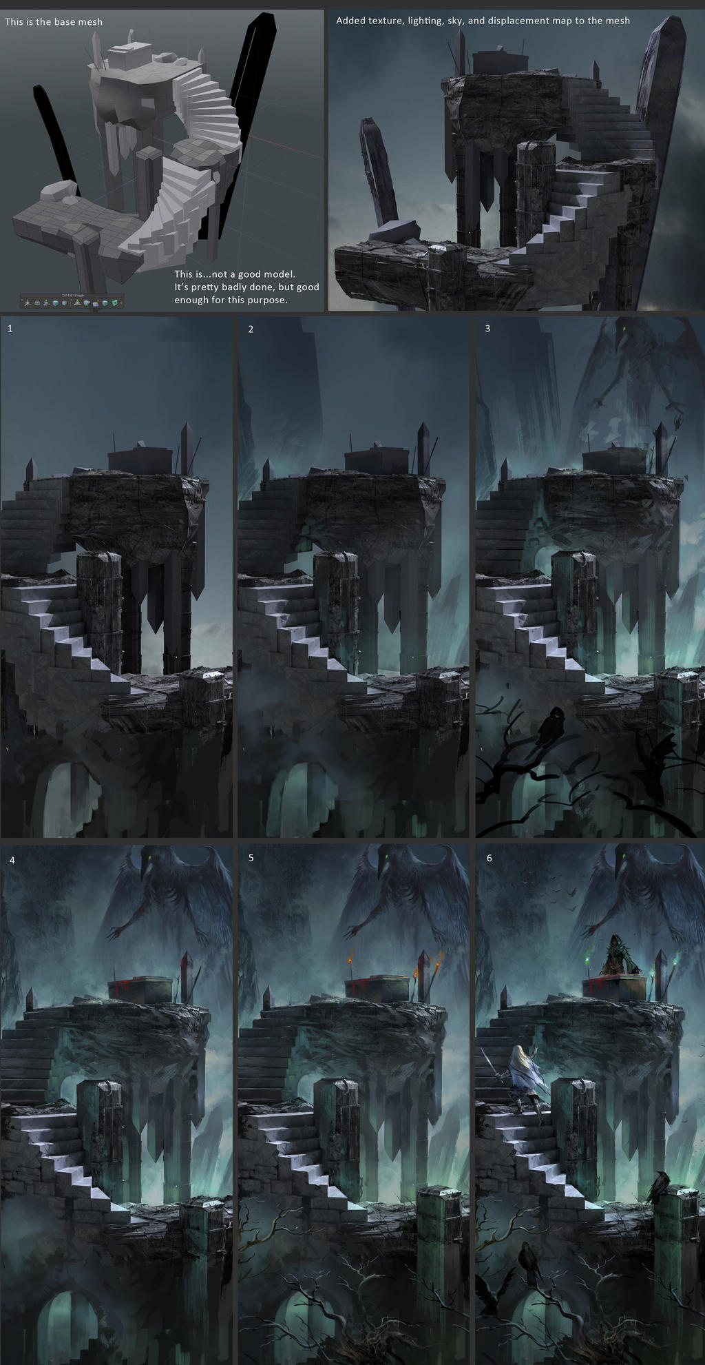 Raven Altar - process